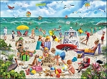 Beach Day Seek & Find Jigsaw Puzzle, 1000 pc., by White Mountain Puzzles, #1401PZ