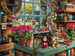 Curious Kittens Jigsaw Puzzle, 1000 pc., by White Mountain Puzzles, #1414PZ