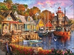 Harbor Evening Jigsaw Puzzle, 1000 pc., by White Mountain Puzzles, #1418PZ