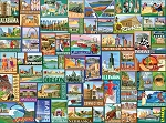 America Jigsaw Puzzle, 1000 pc., by White Mountain Puzzles, #1434PZ