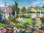 By The Pond Jigsaw Puzzle, 1000 pc., by White Mountain Puzzles, #1456PZ