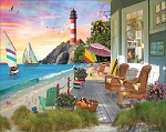 Beach Vacation Jigsaw Puzzle, 1000 pc., by White Mountain Puzzles, #1458PZ