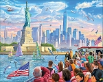 Statue Of Liberty Jigsaw Puzzle, 1000 pc., by White Mountain Puzzles, #1483PZ