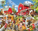 Funny Farm Seek & Find Jigsaw Puzzle, 1000 pc., by White Mountain Puzzles, #1497PZ