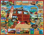 Surfin' Woody Jigsaw Puzzle, 1000 pc., by White Mountain Puzzles, #1501