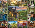Murder In Little Piddling Jigsaw Puzzle, 1000 pc., by White Mountain Puzzles, #1506PZ