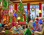 Decorating The Tree Jigsaw Puzzle, 1000 pc., by White Mountain Puzzles, #1527PZ