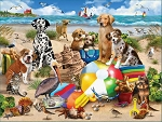 Beach Buddies Jigsaw Puzzle, 550 pc., by White Mountain Puzzles, #1539PZ