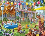 Backyard BBQ Jigsaw Puzzle, 1000 pc., by White Mountain Puzzles, #1554
