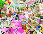 Ice Cream Parlor Jigsaw Puzzle, 1000 pc., by White Mountain Puzzles, #1576PZ