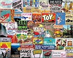 Places I Went As A Kid Jigsaw Puzzle, 1000 pc., by White Mountain Puzzles, #1577PZ