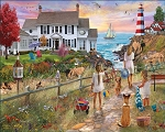 Beach Path Jigsaw Puzzle, 1000 pc., by White Mountain Puzzles, #1580PZ