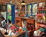 Dad's Hideaway Jigsaw Puzzle, 1000 pc., by White Mountain Puzzles, #1581PZ