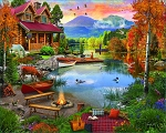 Paradise Lake Jigsaw Puzzle, 1000 pc., by White Mountain Puzzles, #1602PZ