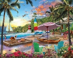 Beach Holiday Jigsaw Puzzle, 550 pc., by White Mountain Puzzles, #1609PZ