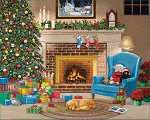 Christmas Eve Jigsaw Puzzle, 1000 pc., by White Mountain Puzzles, #1611PZ