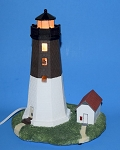Illuminated Point Judith, Rhode Island Lighthouse - Nautical Light by Scaasis