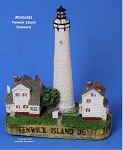 082MIN Scaasis Mini Lighthouse, Fenwick Island, Delaware