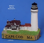 117MIN Scaasis Mini Lighthouse, Cape Cod (Highland), Massachusetts