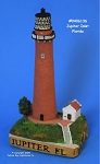 136MIN Scaasis Mini Lighthouse, Jupiter Inlet, Florida