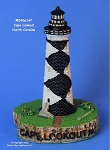 147MIN Scaasis Mini Lighthouse, Cape Lookout, North Carolina