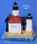 150MIN Scaasis Mini Lighthouse, St. Joseph North Pier, Michigan