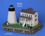 252MIN Scaasis Mini Lighthouse, Piney Point, Maryland