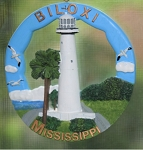 Scaasis Round Ornament, Biloxi Lighthouse, Mississippi, #SC073RO