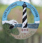 Scaasis Round Ornament, Cape Hatteras Lighthouse, North Carolina, #SC088RO