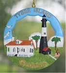 Scaasis Round Ornament, Tybee Island Lighthouse, Georgia, #SC140RO