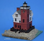Scaasis Small Lighthouse Replica, Round Island, Michigan, SC027S