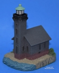 Scaasis Small Lighthouse Replica, Grand Isle East Channel, Michigan, SC079S