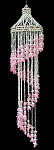 Pink Bubble Spiral Shell Windchime 44