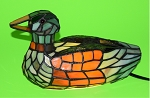 Stained Glass Style Duck Lamp, #GT1749
