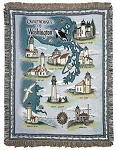 Lighthouses of Washington Tapestry Throw, by Simply Home, 50