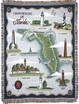 Lighthouses of Florida Tapestry Throw, by Simply Home, 50