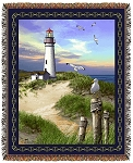 Lighthouse Tapestry Throw by Emily 53
