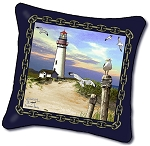 P701 Lighthouse Tapestry Pillow by Emily 18