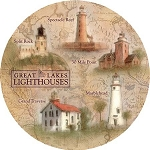 Great Lakes Lighthouses Thirstystone Coasters, Set of 4, TS2089