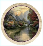 A Quiet Evening Thirstystone Coasters, ©Thomas Kinkade, Set of 4, TSTK1