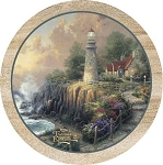 The Light Of Peace Thirstystone Coasters, ©Thomas Kinkade, Set of 4, TSTK14