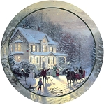 Home For The Holidays Thirstystone Coasters, ©Thomas Kinkade, Set of 4, TSTK25