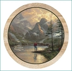 Almost Heaven Thirstystone Coasters, ©Thomas Kinkade, Set of 4, TSTK32