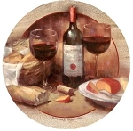 Wine & Cheese Thirstystone Coasters, Set of 4, TSCH21