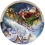 Santa's Sleigh Thirstystone Coasters, Set of 4, TSND3
