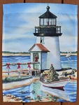 Christmas Lighthouse Garden Flag, by Toland Enterprises, 11-1/8