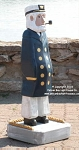 3750150 Captain in Blue Coat, Carved Wood, 35