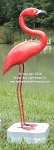 3750191 Small Flamingo Regular Carved Wood on Stand, 38