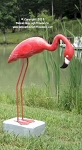 3750193 Small Flamingo Looking Down Carved Wood on Stand, 33