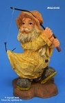 23340 Wood Carved Look Fisherman